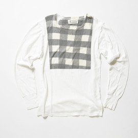 Maison Martin Margiela 0 10 - Checkered Pattern Print Long Sleeve Tshirt (Black)