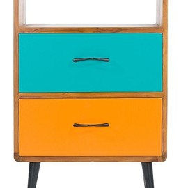 Libra Company - Teak 'Comet' painted two drawer cabinet