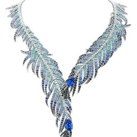 "Van Cleef & Arpels - Van Cleef and Arpels ""Plumes de Martin-Pêcheur"" necklace"