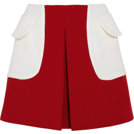 miu miu - SS2014 Color-block wool-twill mini skirt