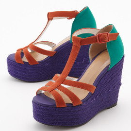 SLY - Straw Wedge Sandal