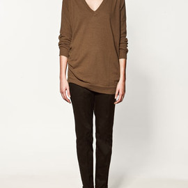 ZARA - MAXI SWEATER WITH ELBOW PATCHES