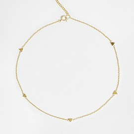 ASOS - Gold Plated Sterling Silver Triangle Choker Necklace