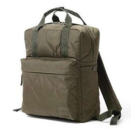 "HEAD PORTER - ""CLAYTON"" 2WAY BAG OLIVE"