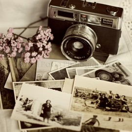 Vintage Camera and Black & White Photos