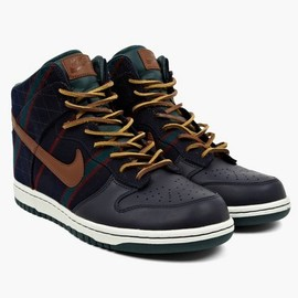 Nike - X Fox Brothers Navy Blue Men's Dunk Hi PRM SP Sneakers