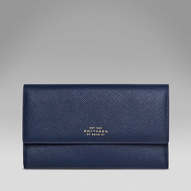Smythson - Panama Collection Triple Folding Purse