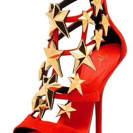 GIUSEPPE ZANOTTI - Red Suede Star booties Fall 2013