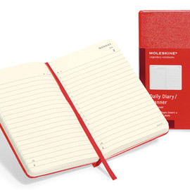 MOLESKINE - 12 months - Daily Planner - Red hard cover - Pocket