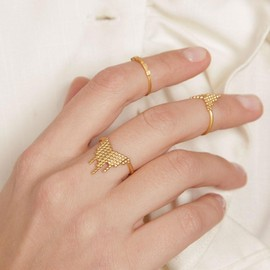Maria Black - GOLD CASCADE PINKY/MID-FINGER RING