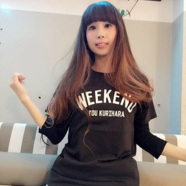 kuriharayou - WEEKEND T(black)
