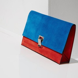 Proenza Schouler - Proenza Schouler x SSENSE Exclusive Peacock Blue Suede Small Lunch Bag Clutch