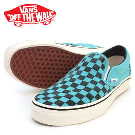 VANS - Classic Slip-On Washed Checker Pool Blue