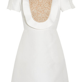 VALENTINO - Cotton and silk-blend dress