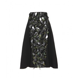 MARNI - FW2014 Embellished wool and silk skirt