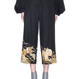 IBRIGU - One of a kind kimono embroidery hem pants