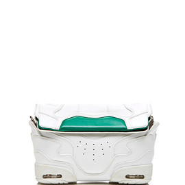 ALEXANDER WANG - SS2015 Small Sneaker Sling In Optic White And Astroturf