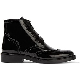 Burberry - Patent-leather ankle boots