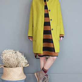 wool coat - Women Loose large size wool coat Single breasted long wool coat