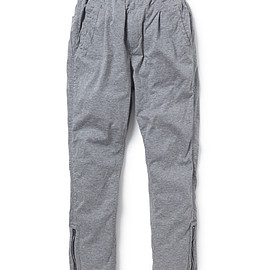 nonnative - PILGRIM EASY PANTS COTTON JERSEY URETHANE COATED