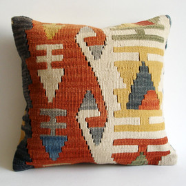 Sukan - SOFT Handwoven Vintage Turkish Kilim Pillow Cover, Decorative Pillows, Accent Pillow, Throw Pillow,  16x16 inch
