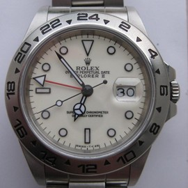 ROLEX - Explorer II ref 16550 with ivory dial