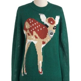 Loving this sweet little fawn sweater.