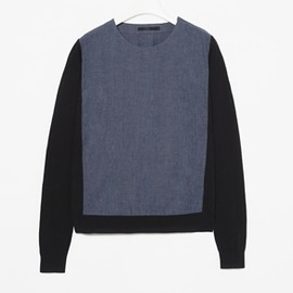 COS - CHAMBRAY PANEL TOP