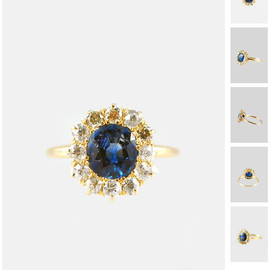 Antique Cushion Cut Sapphire and Diamond Ring – MetierAntique Cushion Cut Sapphire and Diamond Ring