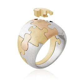 Antonio Bernard - Curved Mix Puzzle Ring