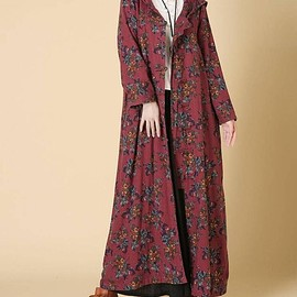 winter maxi coat - Women Hooded long Winter Jacket, Loose fitting winter maxi coat, Plus velvet long overcoat
