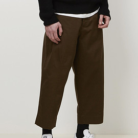 Marni - Garment Washed Wide Leg Pant (Olive)