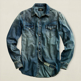 Double RL(RRL) Indigo(Antique Fabric) Patch-Work JK 本藍染パッチワーク