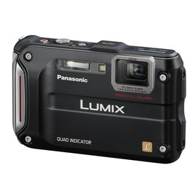 Panasonic, Lumix - Panasonic Lumix TS4 12.1 TOUGH Waterproof Digital Camera with 4.6x Optical Zoom (Black)