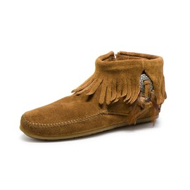 MINNETONKA - Feather Concho Side Zip Boot