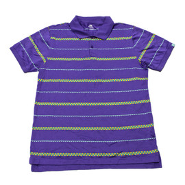 Nike - Nike Purple Checkerboard Striped Polo Shirt Mens Size Medium