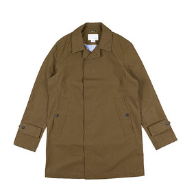 nanamica - GORE TEX Soutien Collar Coat-Olive Brown