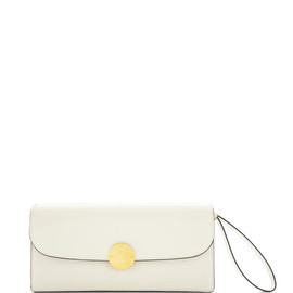 MARC JACOBS - RESORT 2015 Double Trouble Clutch In Polished White With Deep Gold