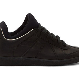 Maison Martin Margiela - Black Leather Integrated Neoprene Replica Sneakers
