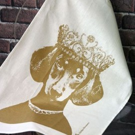 Lisa Bengtsson - Lisa Bengtsson Dog Tea Towel - Princess Pooch
