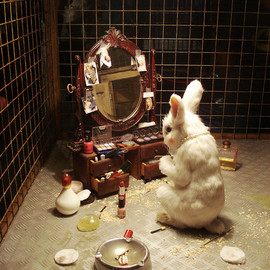 Banksy - Rabbit Makeup