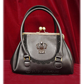BABY,THE STARS SHINE BRIGHT - 王冠がま口BagⅡ/Purse shaped bag with crown Ⅱ(black)