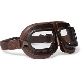Connolly - + Goodwood Leather and Brass Driving Goggles