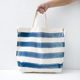TACOMA FUJI RECORDS - THE STRIPED TOTE designed by Jerry UKAI