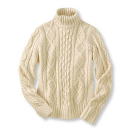 L.L.Bean - Chunky Cable Sweater, Turtleneck: Turtlenecks at L.L.Bean