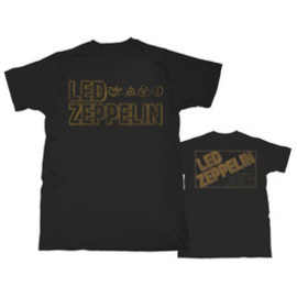LED ZEPPELIN / SQUARE GOLD LOGO / T-Shirts Tシャツ レッド・ツェッペリン