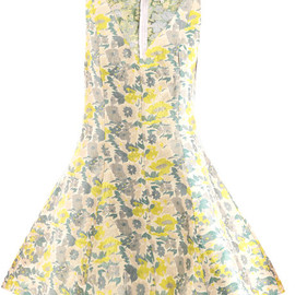 OPENING CEREMONY - Opening Ceremony Floral Jacquard Dress in Yellow (floral) - Lyst