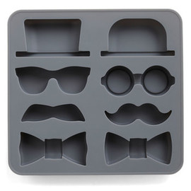 Sir Up Some Fun Ice Cube Tray by Kikkerland - Black, French / Victorian, Quirky, Summer
