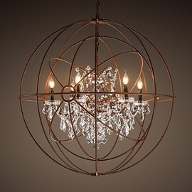 Restoration Hardware - Foucault's Twin-Orb Crystal Chandelier
