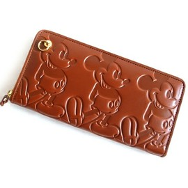 And A KOMONO(アンドエーコモノ)のMICKEY ZIP LONG WALLET (And A×JAM HOME MADE)(財布)|モカ